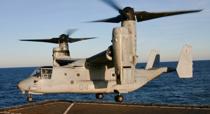 The Bell Boeing V-22 Osprey, an American multi-mission aircraft specializing in quick infiltration, making it an ideal means of transportation for Special Forces. Wikimedia Commons