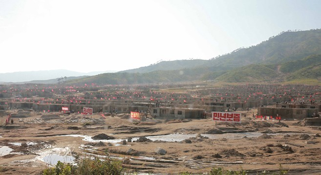 N. Korea constructs large number of houses in flood affected area