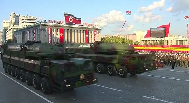 Analysis: Redesigned KN-08 missile unveiled in military parade