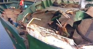 N. Korea releases footage of damaged ship