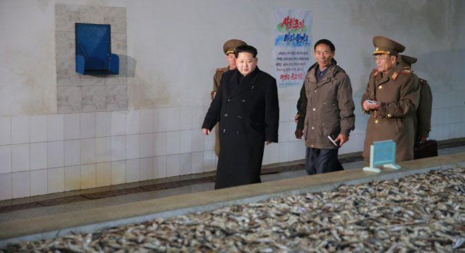 Kim Jong Un at Fishery Station No. 15 of the KPA   Photo: KCNA