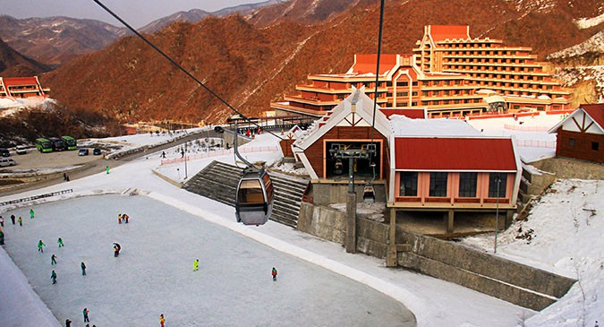 North Korea's new cable car from Austrian ski resort