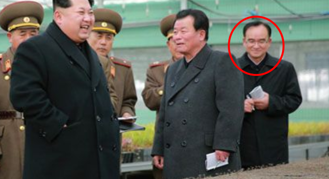 Jo Yong Won accompanies Kim Jong Un at Tree Nursery No. 122 | Photo: KCNA