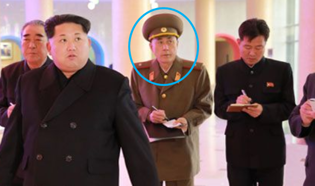Ma Won Chun (circled) with Kim Jong Un at Mangyongdae Schoolchildren's Palace | Photo: KCNA