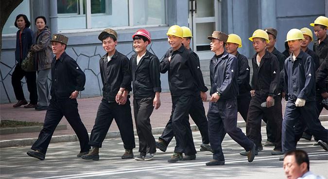 Happy North Korean 'slaves' in Vladivostok