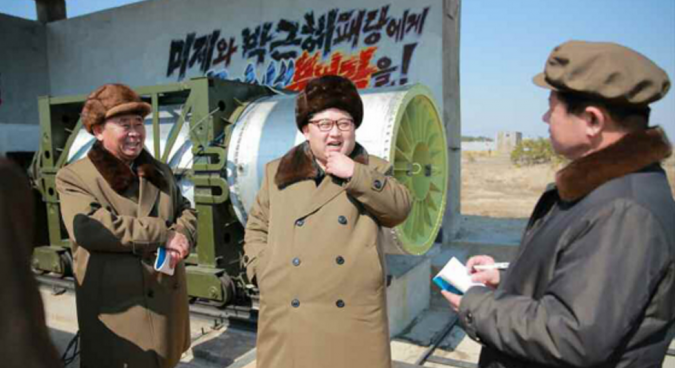 North Korea conducts solid missile fuel test