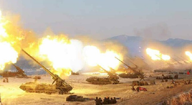 North Korea holds its largest ever artillery exercise