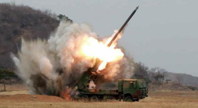 N.Korea reveals details of 300mm multiple rocket launcher