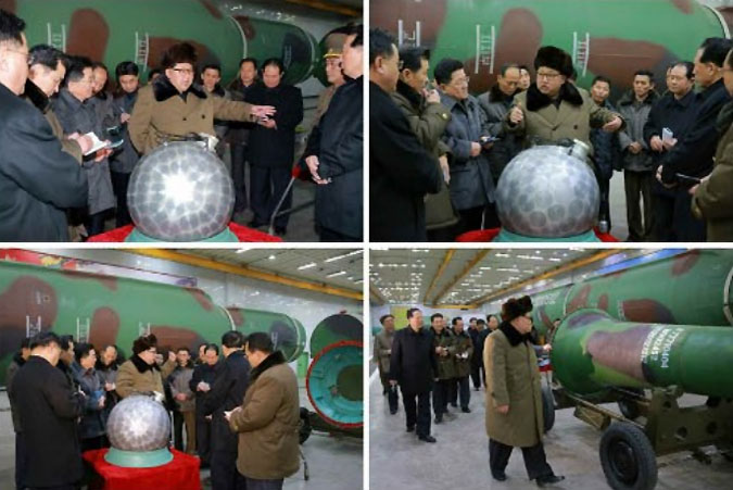 Montage of Kim Jong Un visiting the nuclear missile facility | Picture: Rodong Sinmun
