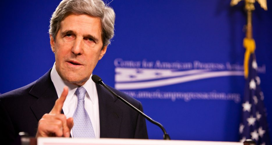 Kerry mentions peace treaty with North Korea