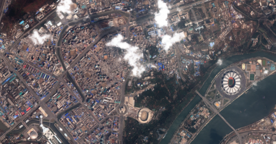 Satellite imagery reveals Ryomyong Street construction progress