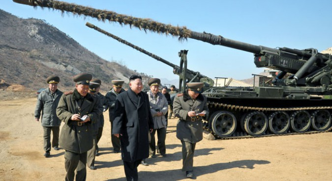 170mm guns of KPA Unit 641 in IV Corps during an inspection by Kim Jong Un | Photo: KCNA
