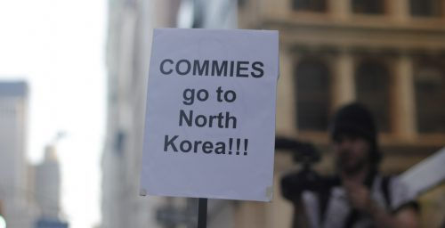 Indoctrination, finances motivate N.Korean defectors to attend rallies