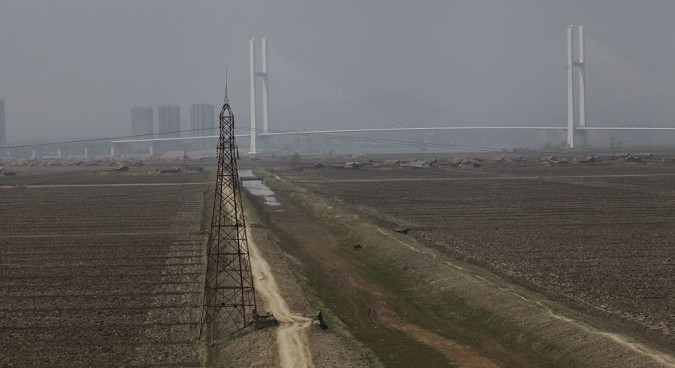 The bridge is visible for miles from Sinuiju on the DPRK side | Picture: NK News