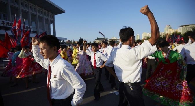 North Korean young people dancing together to mark the national foundation day  (September 9) | NK News