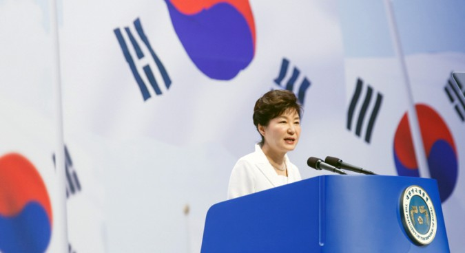 President Park bashes N.Korea on Independence Day speech