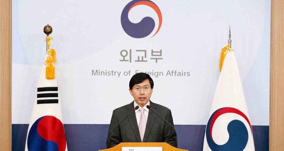S.Korea endorses U.S. sanctions on China's HongXiang Group
