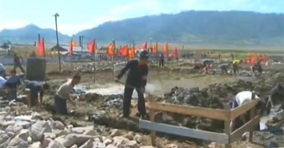 North Korea promotes domestic response to flooding