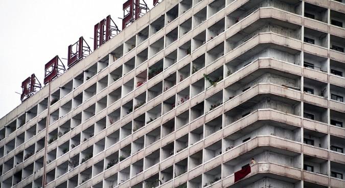 north korea apartments photo