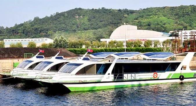 "North Korean media shows off new solar-powered ""pleasure"" boats"