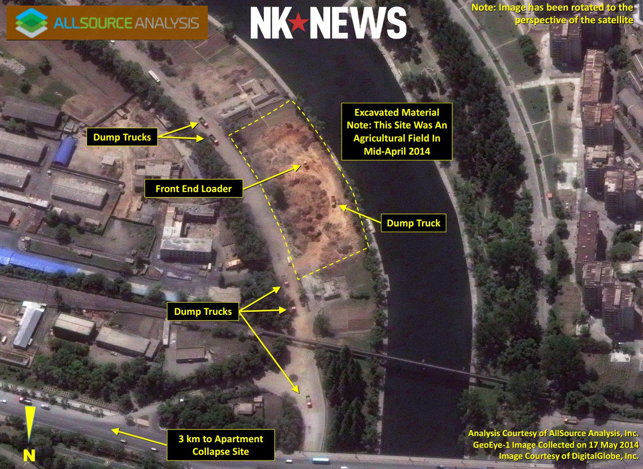 Satellite imagery shows possible dump location in Western Pyongyang (Click to Zoom) | Picture: Digital Globe / AllSource Analysis