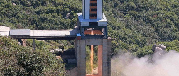 North Korea's brand new rocket engine | Image: Rodong Sinmum