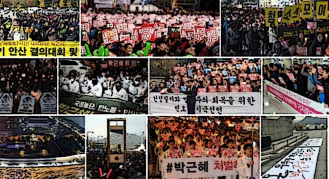 North Korea crops pictures of Seoul in mass protest coverage