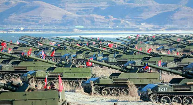 N.Korea conducts massive artillery training near Wonsan
