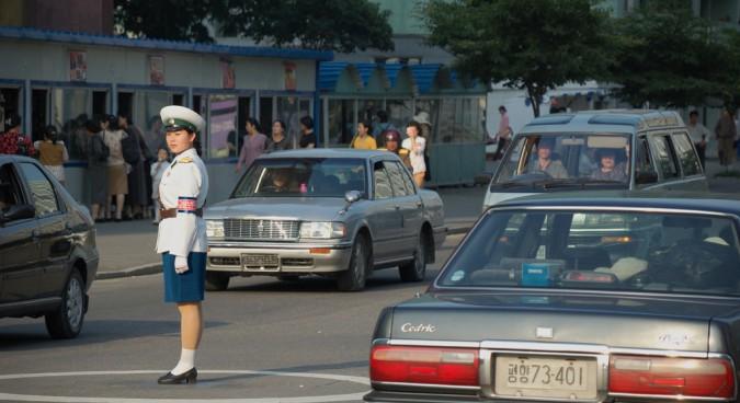 pyongyang traffic photo
