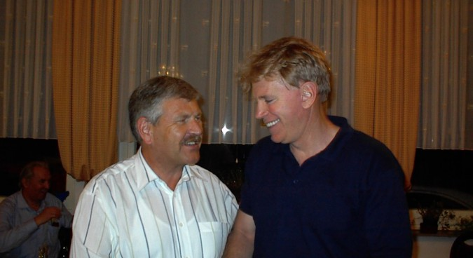 Duke (right) with the leader of Germany's far-right NPD Udo Voigt in 2002 | Photo: Wikimedia Commons