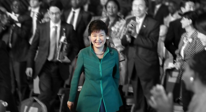 Park legal team continues to link her fall to North Korea