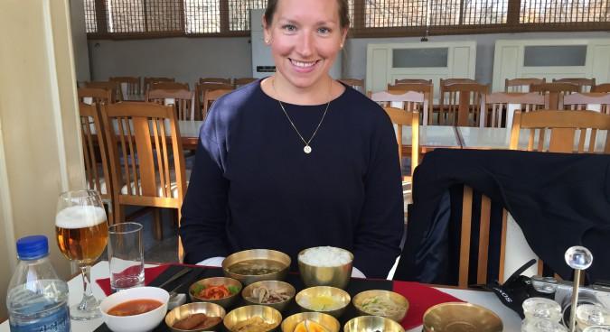 Åberg Somogyi having lunch i Kaesong (Photo: Daniel Ekström)