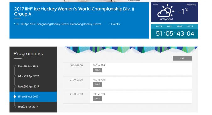Official website of PyeongChang Test Events