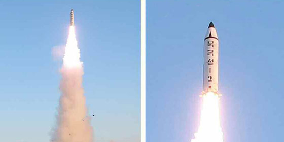 "N.Korea tested solid-fuel IRBM using ""cold launch"" technology: JCS"