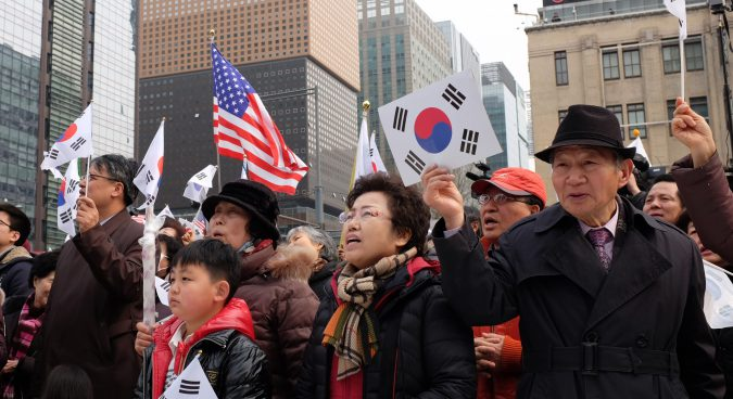 What do pro-Park Geun-hye activists think of North Korea?