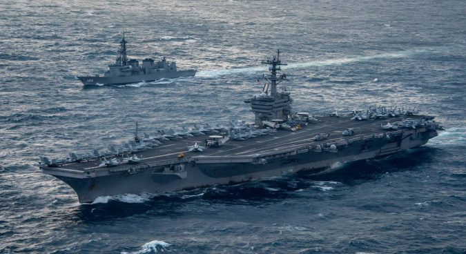 U.S. nuclear-powered aircraft carrier to enter South Korea for military drills