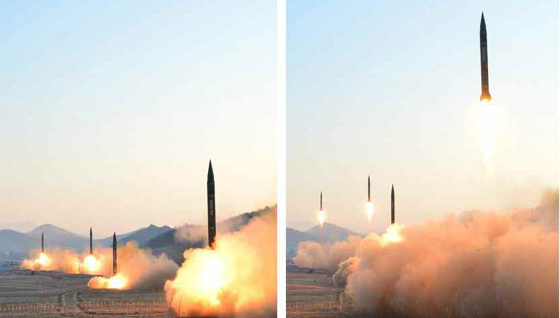 North Korea conducts missile test targeting U.S. bases in Japan: KCNA