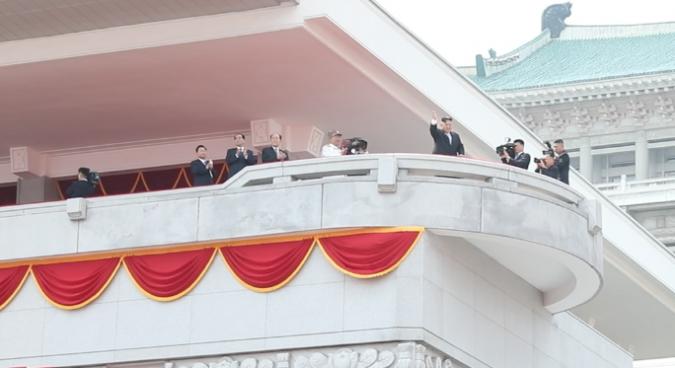 Kim Jong Un oversees major military parade in Pyongyang