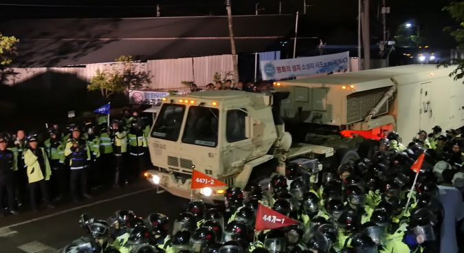 Amid local protests, key THAAD components deployed in South Korea