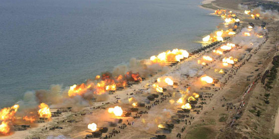 """North Korea conducts """"largest-ever"""" live-fire military drills"""