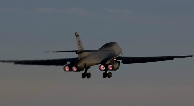 U.S. supersonic strategic bombers stage military drills over Korean peninsula