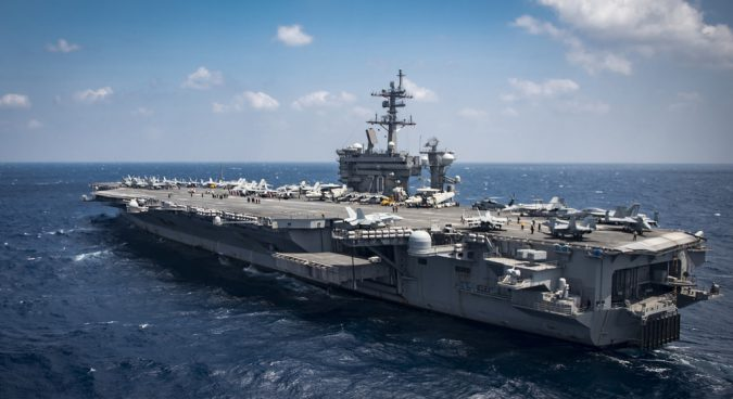 Two U.S. aircraft carriers leave waters near North Korea