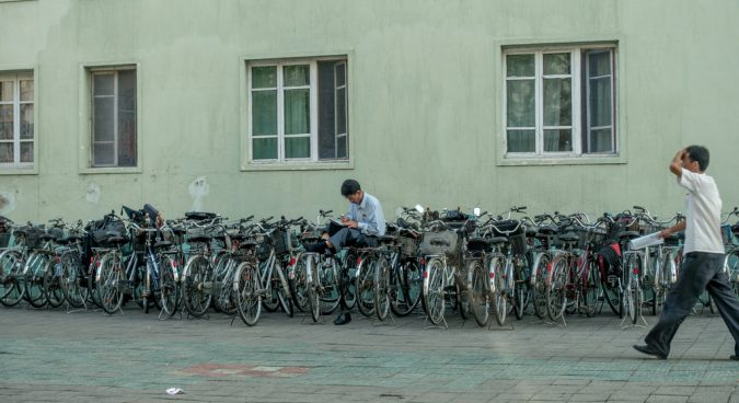 north korea bicycles photo