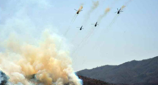 N. Korean state TV shows special forces attack on mock-up S. Korean missiles