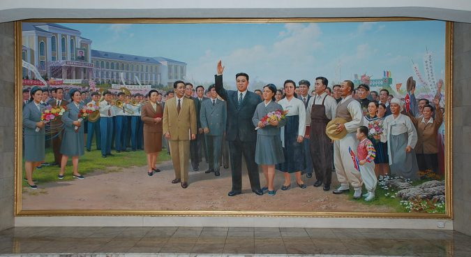 kim il sung propaganda photo