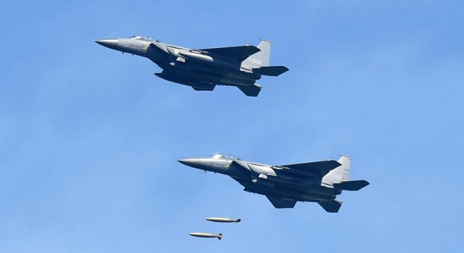 S. Korean air force conducts test strike against N. Korean leadership