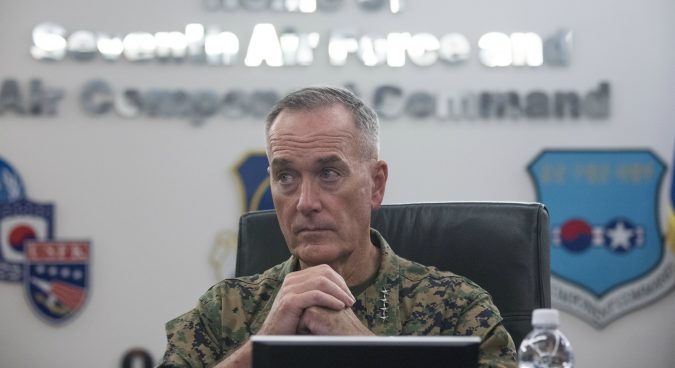 U.S. hoping to resolve North Korea tensions without a war: JCS chief