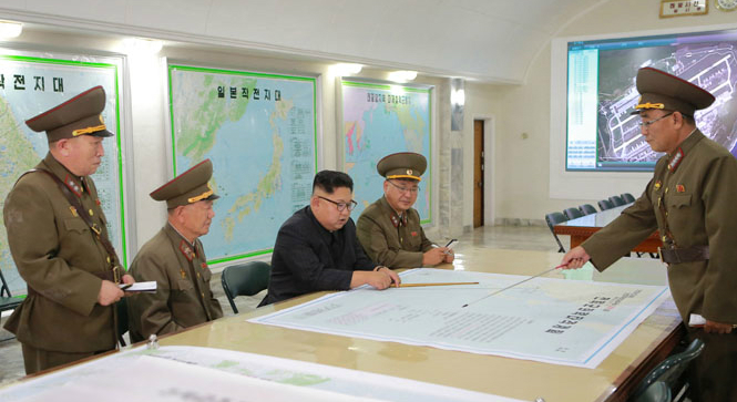 Kim Jong Un briefed on Guam attack plan at Strategic Force command: KCNA
