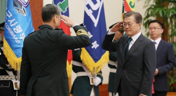"Securing military capabilities against N. Korea an ""urgent task"": Moon"