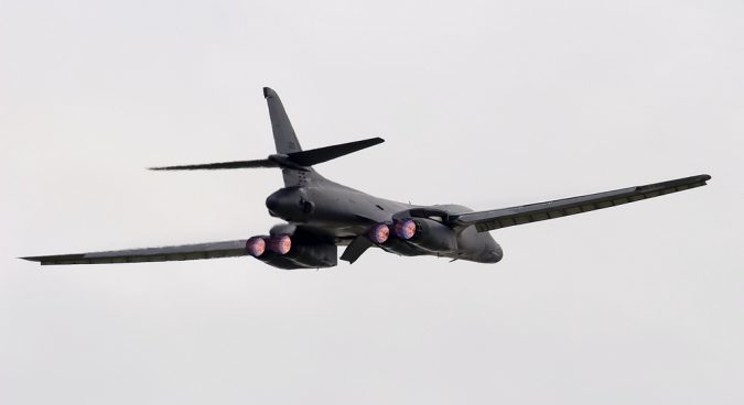 U.S. sends B-1B bombers off North Korea's east coast